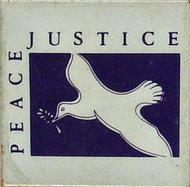Peace and Justice Vintage Pin