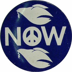 Peace Now Vintage Pin