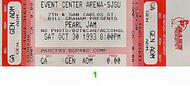 Pearl Jam 1990s Ticket