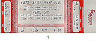 Pearl Jam Vintage Ticket