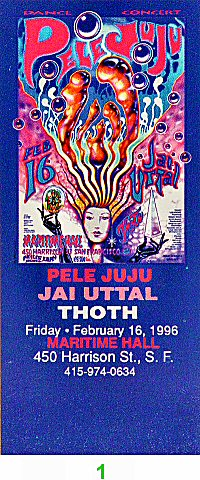 Pele Juju 1990s Ticket