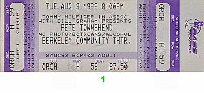 Pete Townshend1990s Ticket