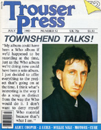Pete Townshend Trouser Press Magazine