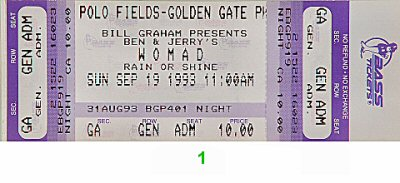 Peter Gabriel1990s Ticket