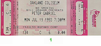 Peter Gabriel 1990s Ticket