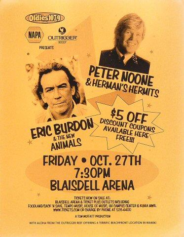 Peter Noone Handbill