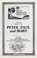 Peter, Paul & Mary Program