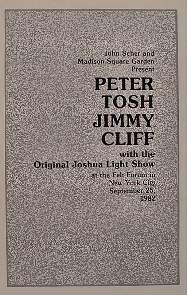 Peter Tosh Program