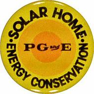 PGandE Solar Home Vintage Pin