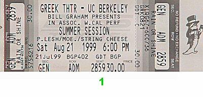 Phil Lesh & Friends1990s Ticket