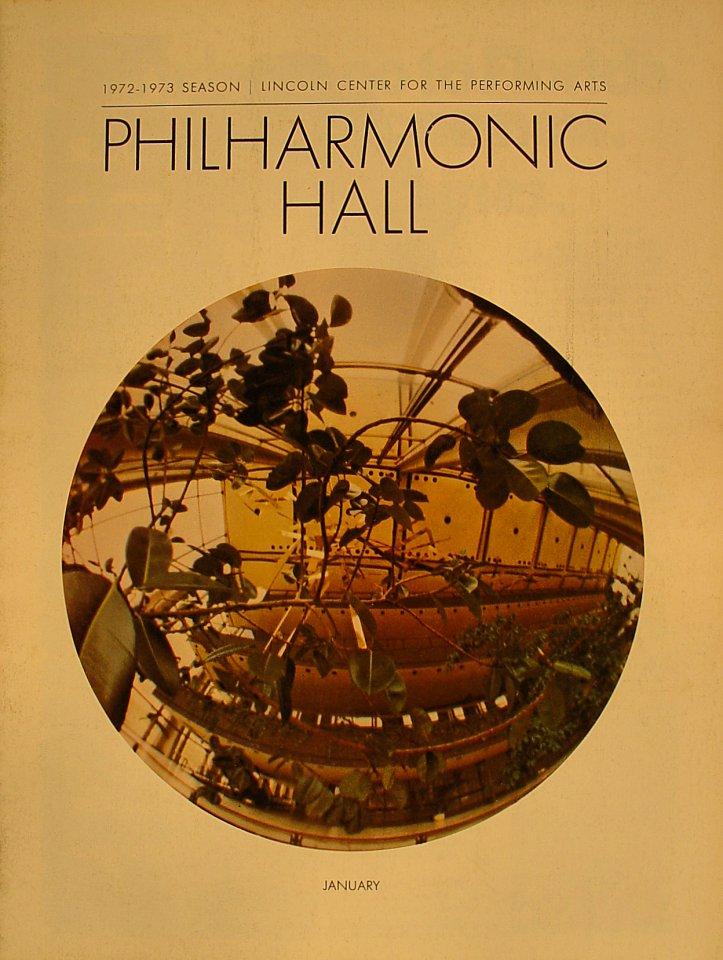Philharmonic Hall Program