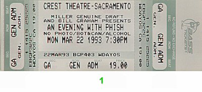 Phish1990s Ticket