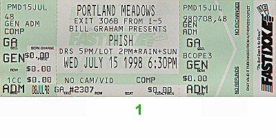 Phish1990s Ticket