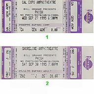 Phish 1990s Ticket