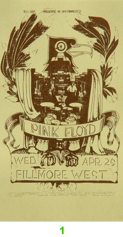 Pink Floyd 1970s Ticket