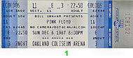 Pink Floyd 1980s Ticket
