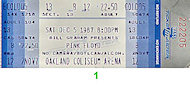 Pink Floyd Vintage Ticket