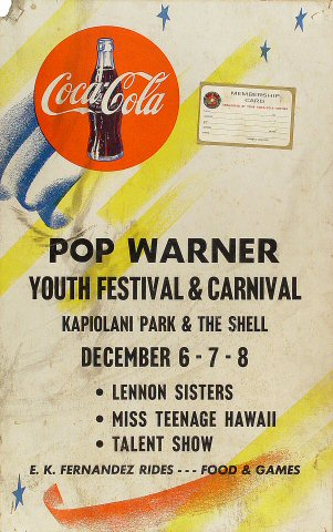 Pop Warner Youth Festival and Carnival Poster