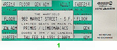 Primus1990s Ticket
