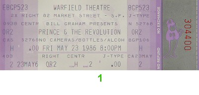 Prince1980s Ticket