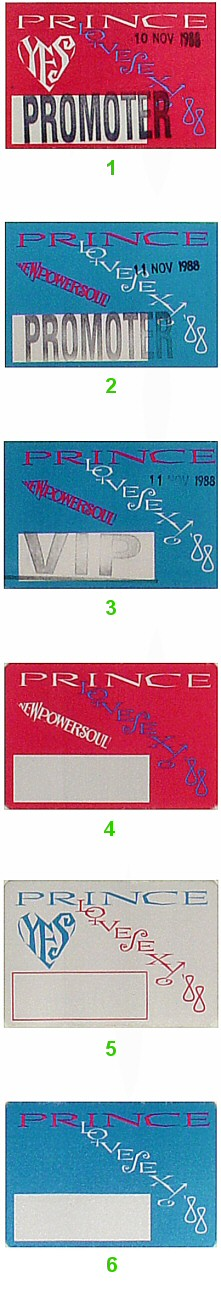 Prince Backstage Pass