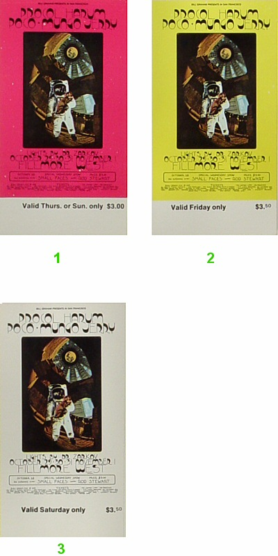 Procol Harum1970s Ticket