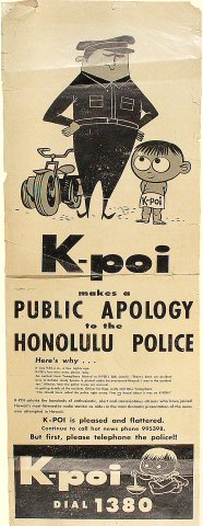 Public Apology to the Honolulu Police Poster