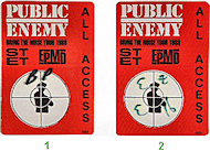 Public Enemy Backstage Pass