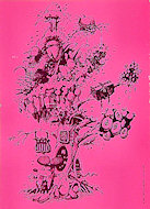 Pyschedelic Tree Postcard