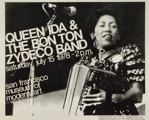 Queen Ida & The Bon Temps Zydeco Handbill