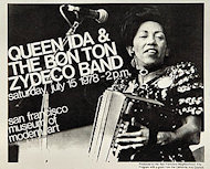 Queen Ida &amp; The Bon Temps Zydeco Handbill