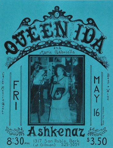 Queen Ida Handbill