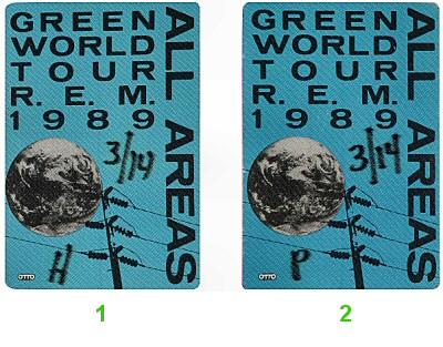 R.E.M.Backstage Pass
