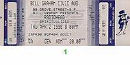 Radiohead 1990s Ticket
