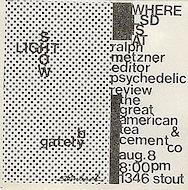 Ralph Metzner Handbill