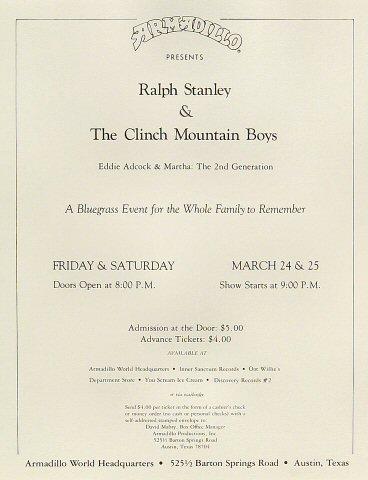 Ralph StanleyHandbill