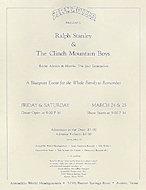 Ralph Stanley Handbill