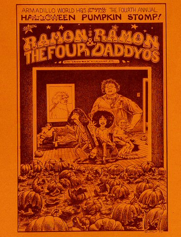 Ramon Ramon and the Four Daddyo's Handbill