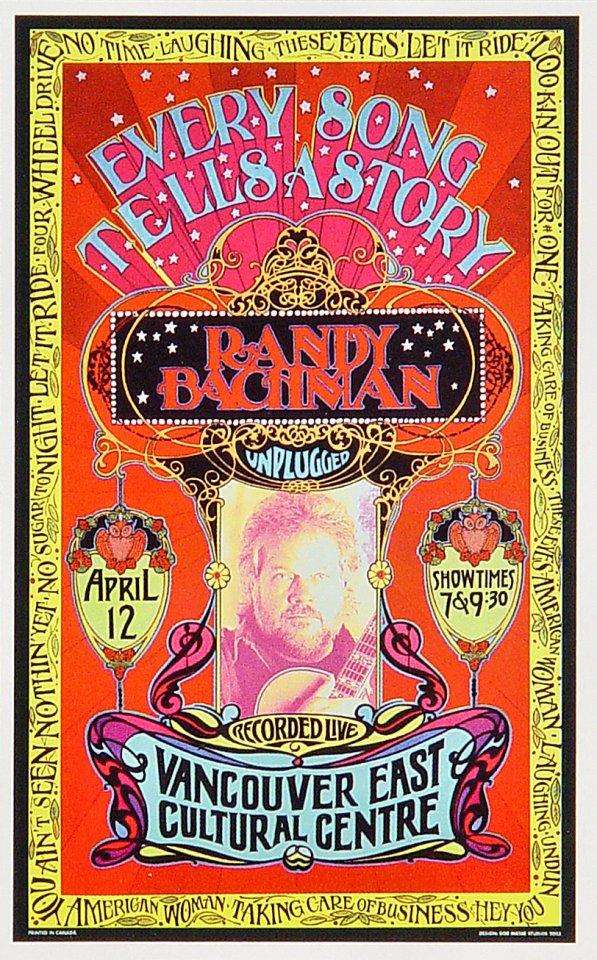 Randy Bachman Handbill