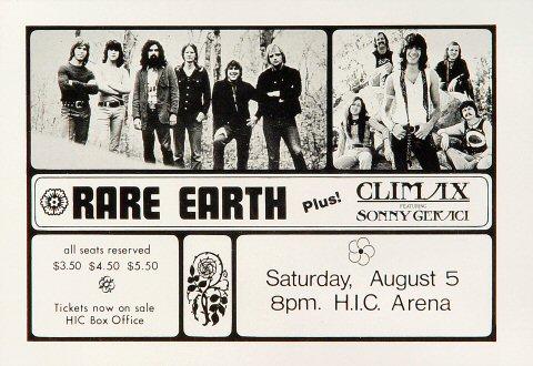 Rare Earth Handbill