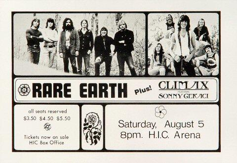 Rare Earth Handbill