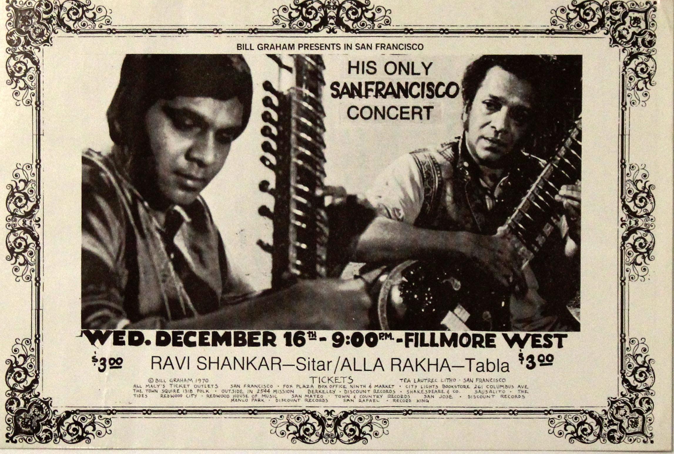 Ravi Shankar Handbill