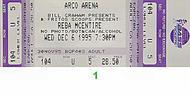 Reba McEntire 1990s Ticket