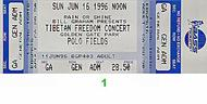 Rage Against the Machine 1990s Ticket