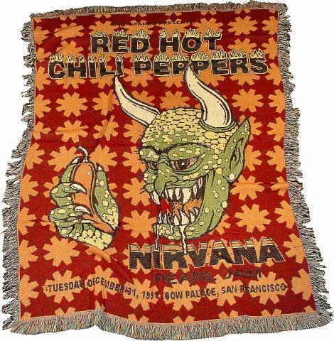 Red Hot Chili Peppers Retro Afghan