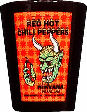 Red Hot Chili Peppers Retro Shotglass