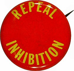 Repeal Inhibition Vintage Pin