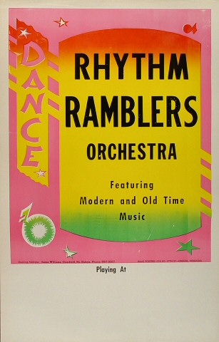 Rhythm Ramblers OrchestraPoster