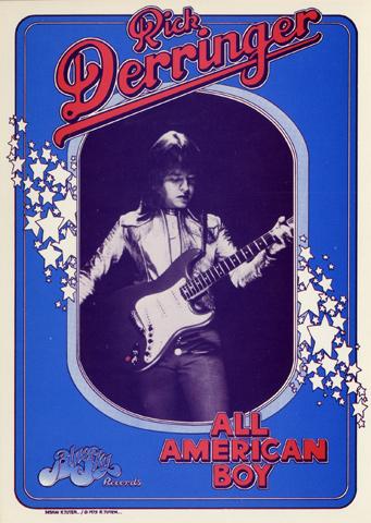 Rick Derringer Handbill
