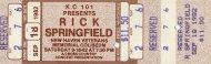Rick Springfield Vintage Ticket